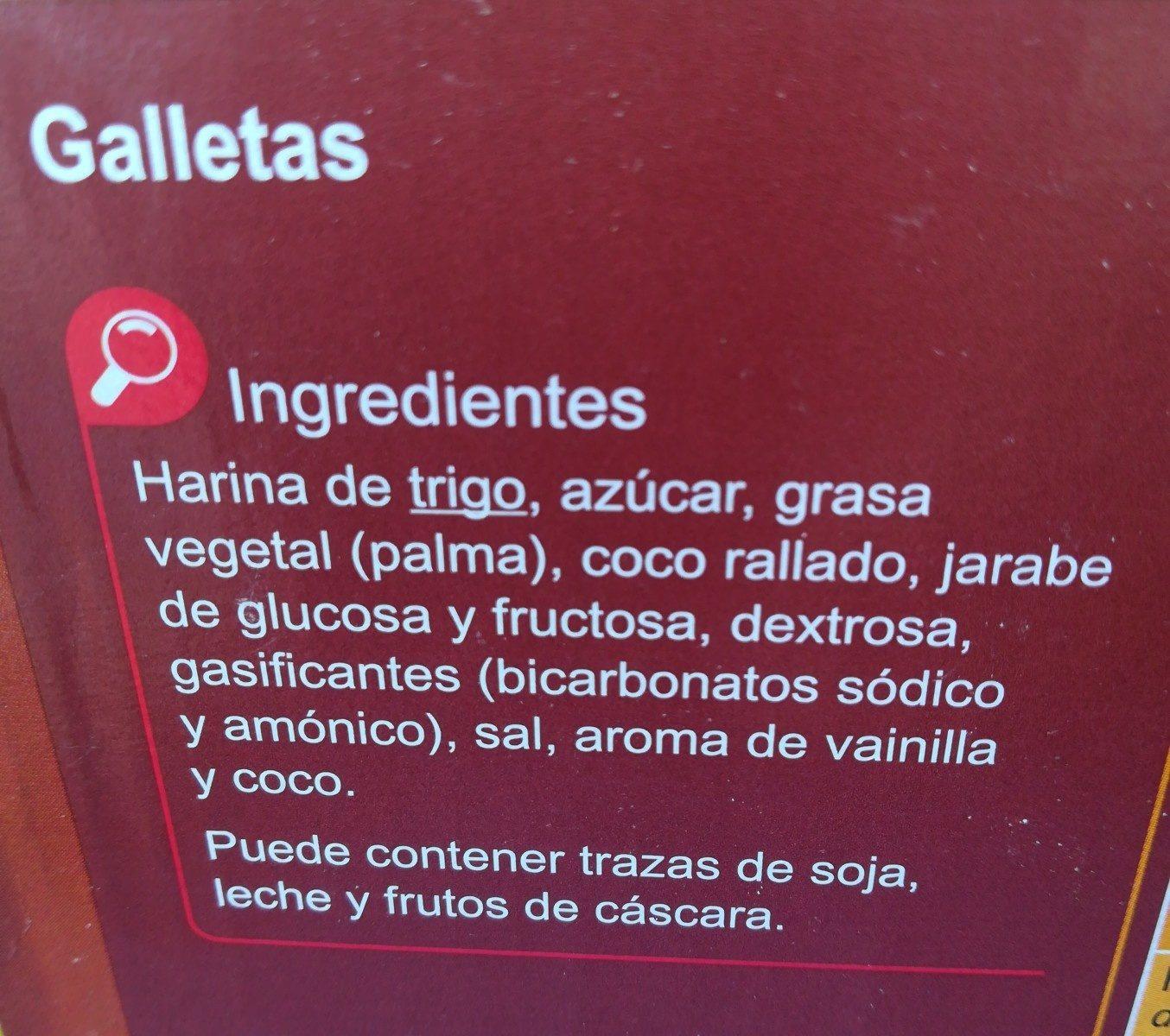 Galleta horneada - Ingrédients - fr