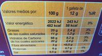 Galleta horneada - Informations nutritionnelles - fr