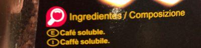 Café soluble - Ingrédients