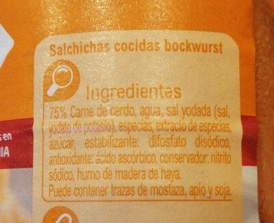 Salchicha Bockwurst - Ingredients - es