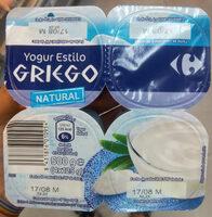Yogur estilo griego Natural - Produit - fr