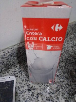 Leche entera calcio - Ingredientes - es