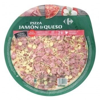 Pizza jamón y queso - Product - es