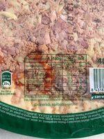 Pizza atún y bacon - Informació nutricional - es