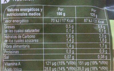 Ensalada 4 estaciones - Información nutricional - es