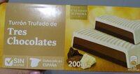 Turrón Trufado de Tres Chocolates. - Produit