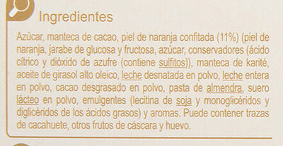 Turrón trufado de naranja - Ingredientes - es