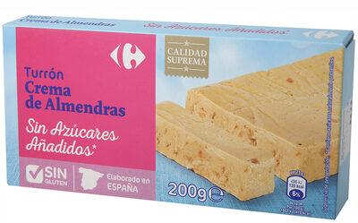 Turrón crema de almendras sin azúcar - Produit - es