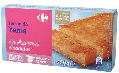 Turrón yema tostada sin azúcar - Producto - es