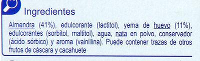 Turrón yema tostada sin azúcar - Ingredientes - es