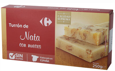 Turrón nata nueces - Product - es
