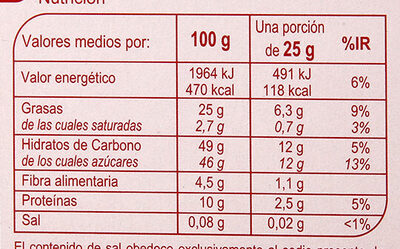 Turrón nata nueces - Nutrition facts - es