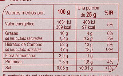 Turrón mazapan fruta - Información nutricional - es