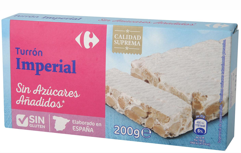 Turrón imperial sin azúcar - Producto - es