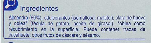 Turrón imperial sin azúcar - Ingredients - es