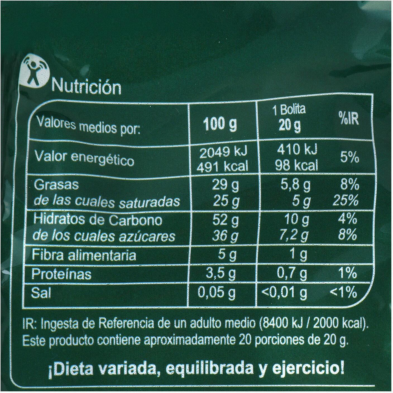 Bolitas coco - Informació nutricional - es