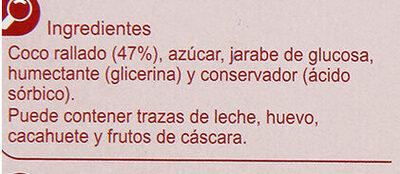 Turrón coco - Ingredientes - es