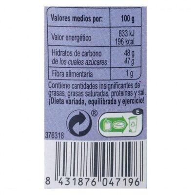 Mermelada arándano - Información nutricional - es