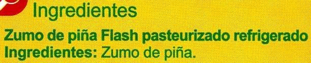 Zumo Piña - Ingredients - es