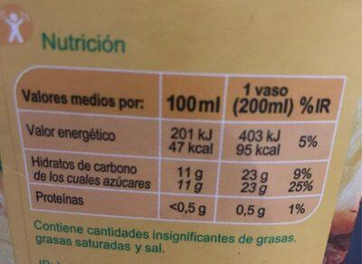 Zumo Piña - Información nutricional - es
