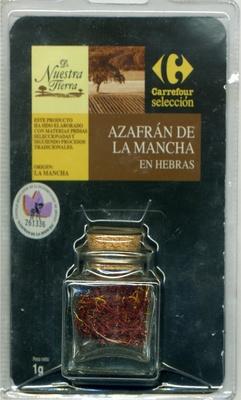 Azafrán en hebras Origen La Mancha - Producto