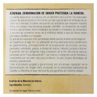 Azafran de la mancha - Información nutricional - es
