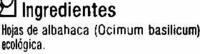Albahaca seca molida - Ingredientes