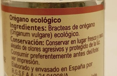 Orégano - Nutrition facts - es