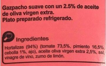 Gaspacho suave - Ingredientes - es