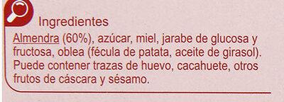 Turrón guirlache - Ingredientes - es