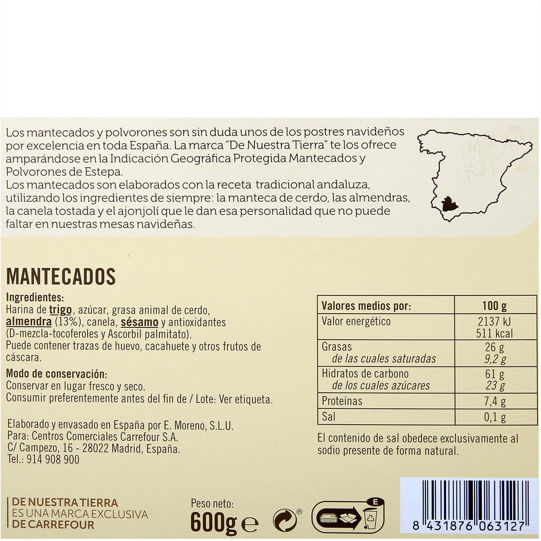 Mantecados - Información nutricional - es