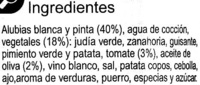 Alubia c/verduras - Ingredients - es