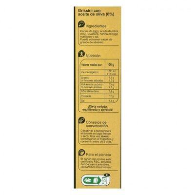 Grissini oliva - Información nutricional - es