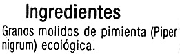 Pimienta negra molinillo - Ingredients - es