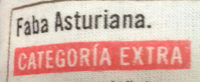 Faba Asturiana - Ingredientes