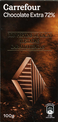 Chocolate negro 72% - Producto