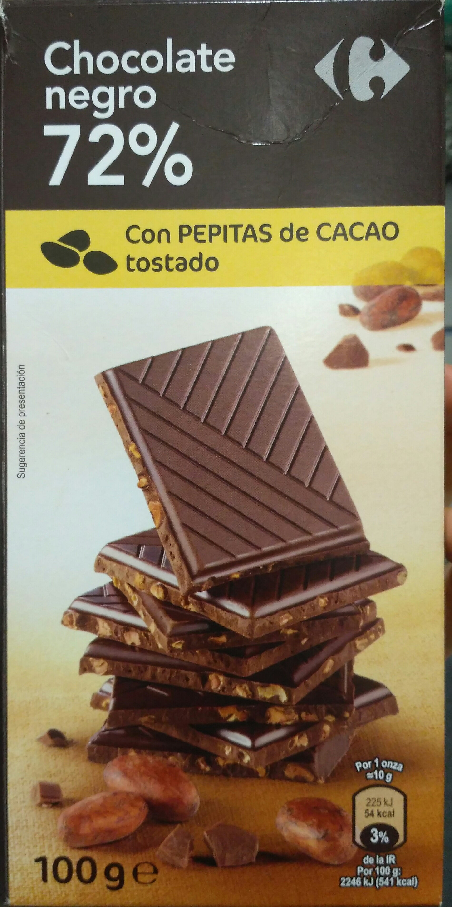Chocolate negro 72% - Producte - es