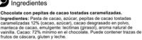 Chocolate negro 72% - Ingredientes