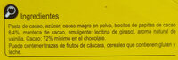 Chocolate negro 72% - Ingredients - es