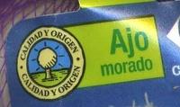 Ajo morado - Ingredientes