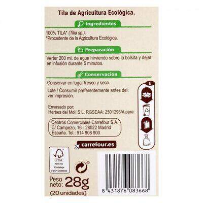 Tila - Información nutricional - es