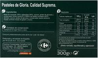Pastel de gloria suprema - Información nutricional - es