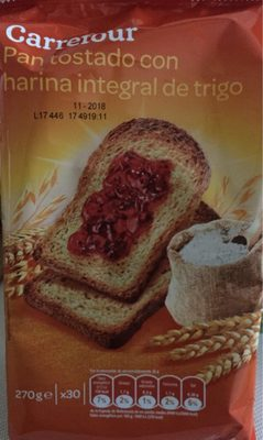Pan tostadocon harina integral de trigo - Producto