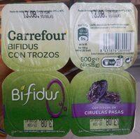 Bifidus con trozos de ciruelas pasas - Producte