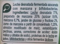 bifidus 0% manzana - Ingredients - fr