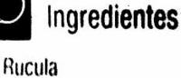 Rúcula - Ingredientes