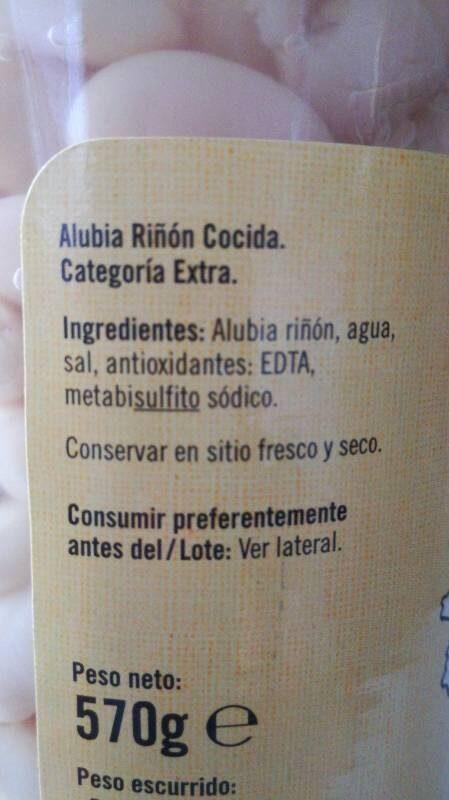 alubia riñón cocina - Ingredients