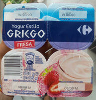 Yogur estilo griego con fresa - Producto