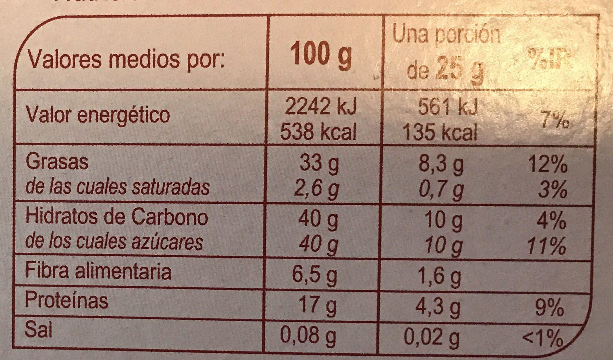 Turrón duro alicante calidad suprema - Información nutricional - es