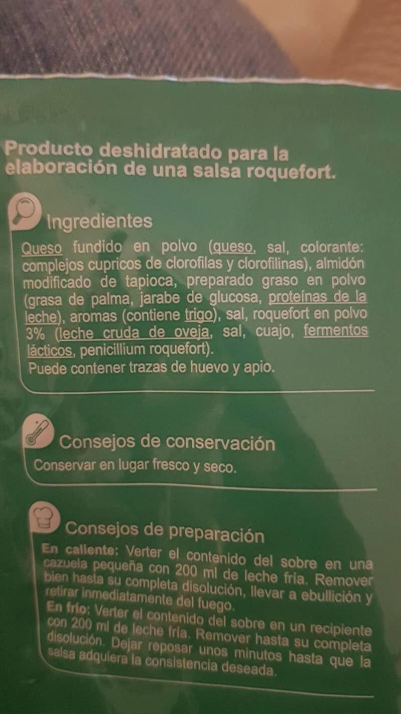 Salsa roquef - Ingredients - es